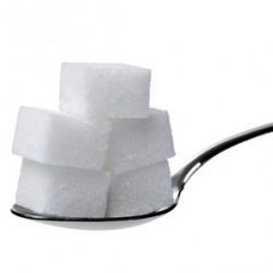 sugar cube and spoon sweet sweetener